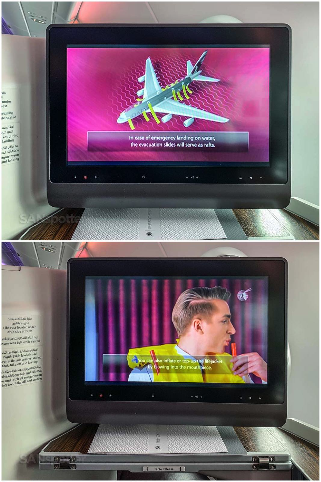 Qatar Airways a380 safety video