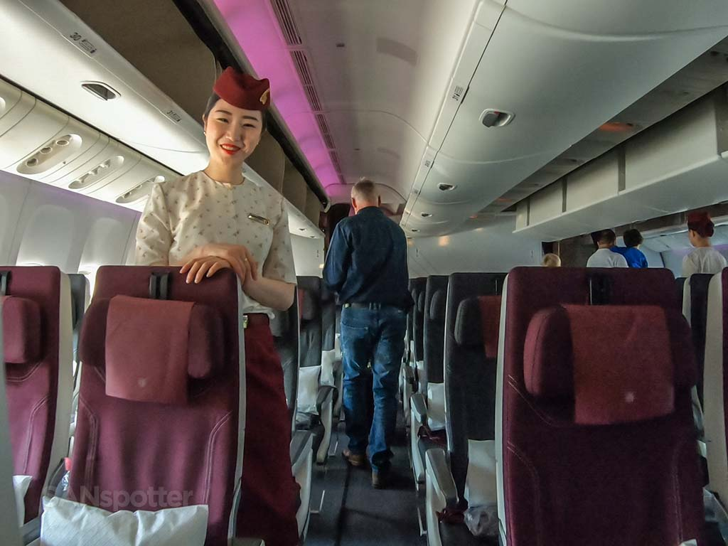 Qatar Airways flight attendant