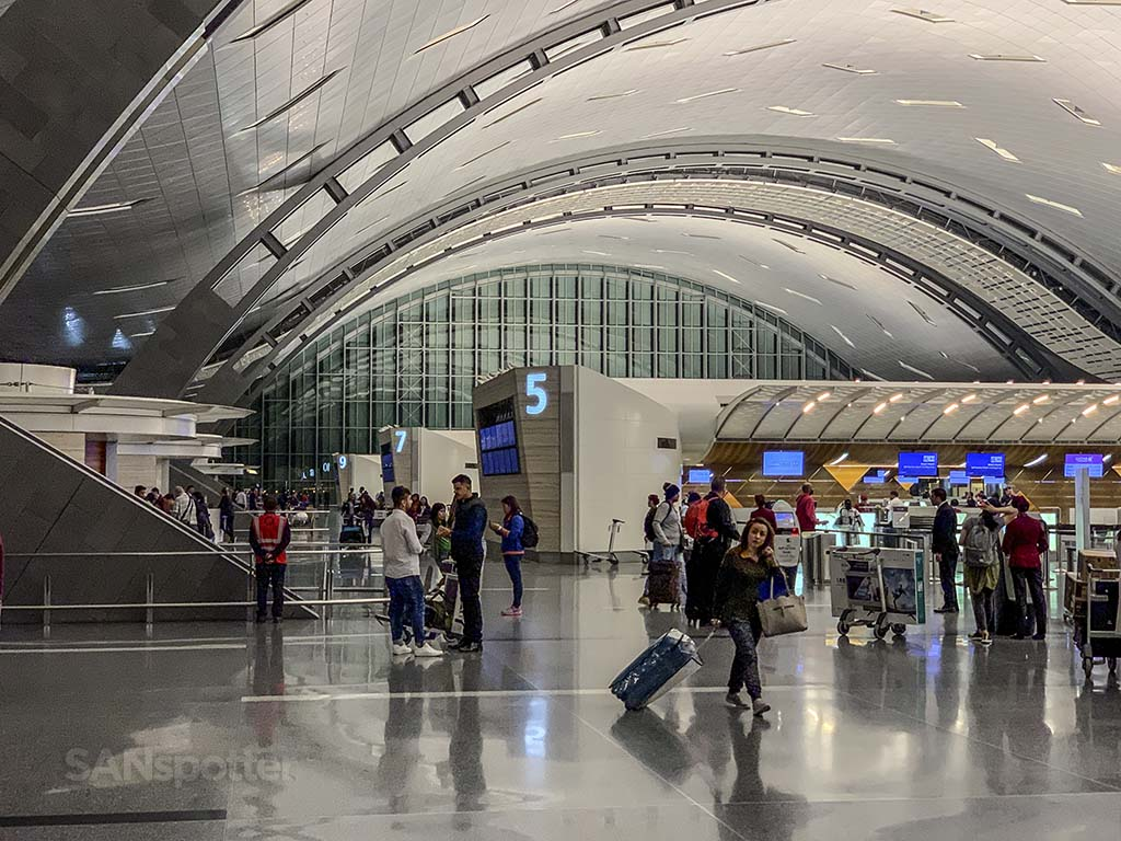 Doha airport departures hall