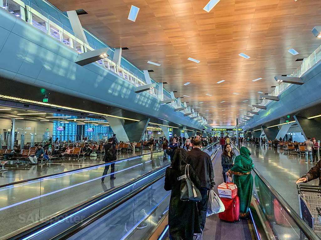 Doha airport terminal interior