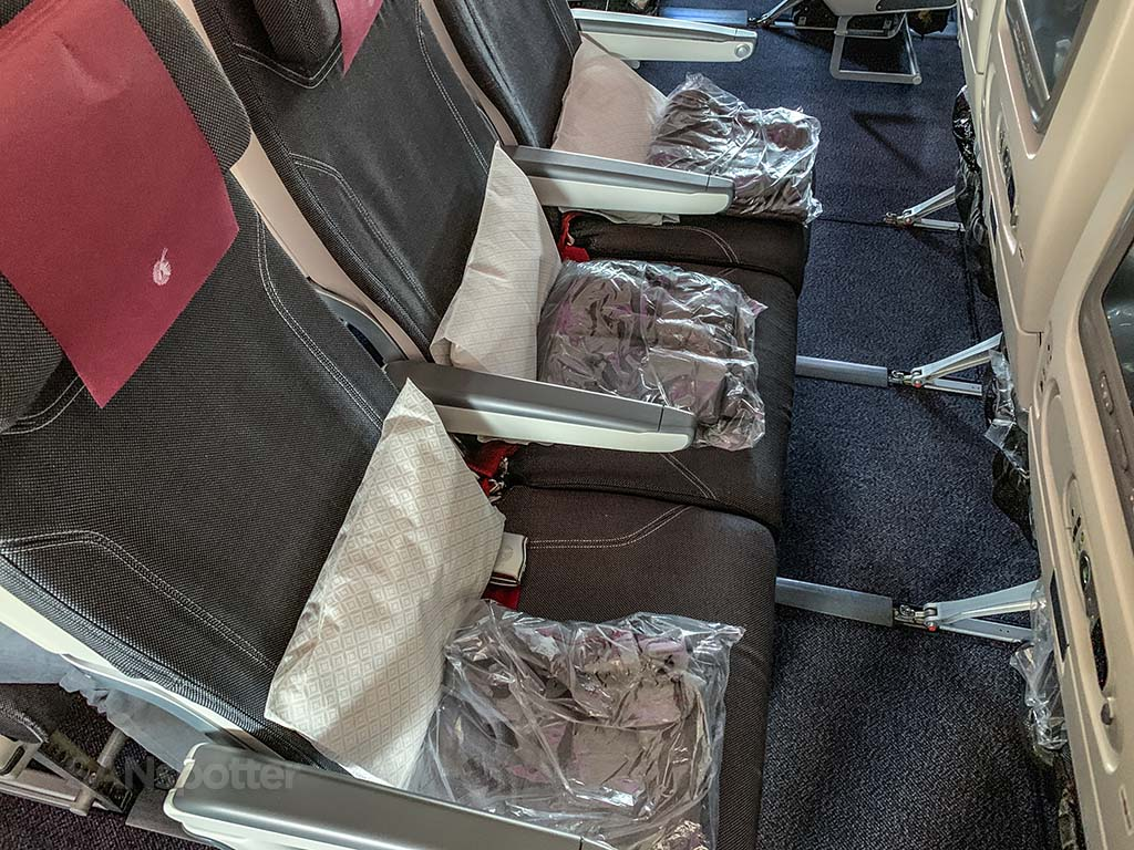 Qatar Airways 777 economy seats