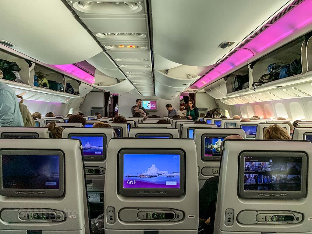 Qatar Airways 777-300 economy class