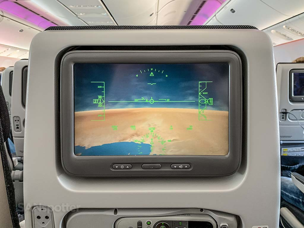 Qatar economy class video screens