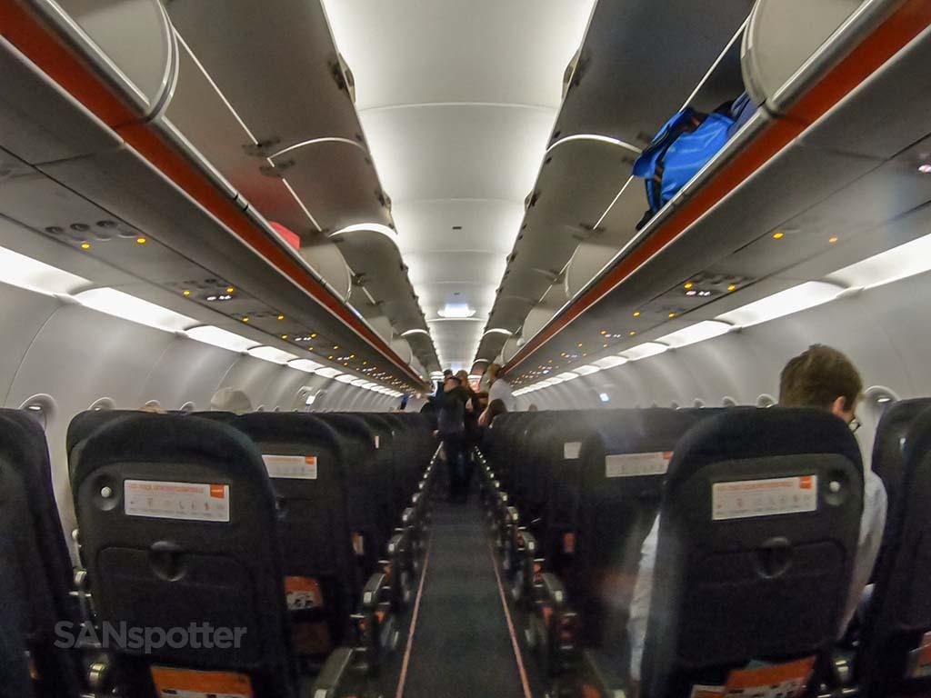 EasyJet a320 interior