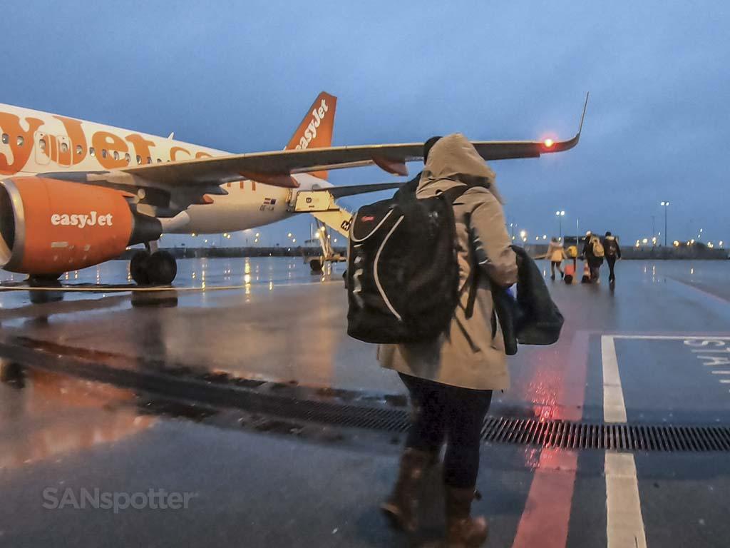 Boarding flight Amsterdam