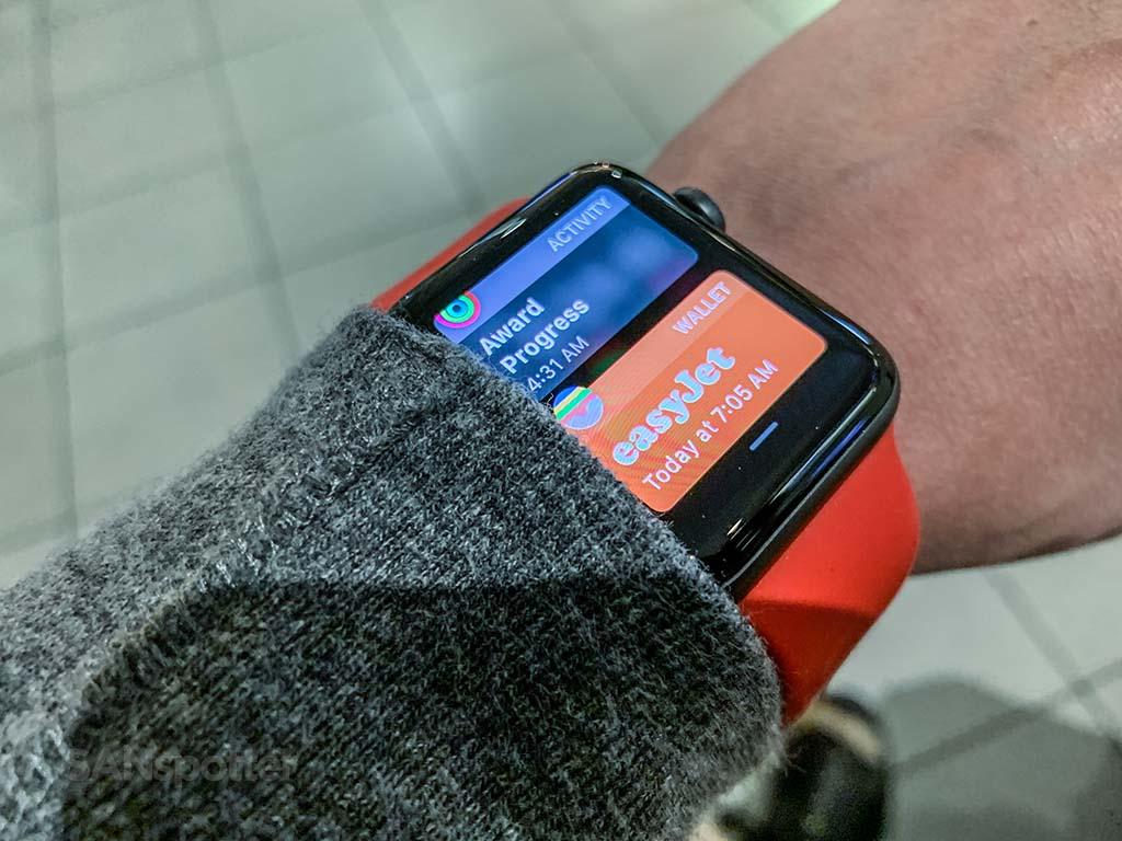 Apple Watch easyJet app