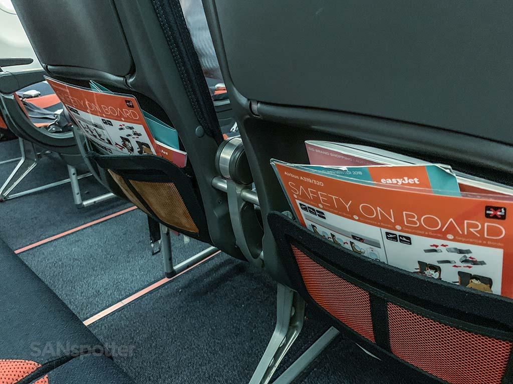 EasyJet a320 seats
