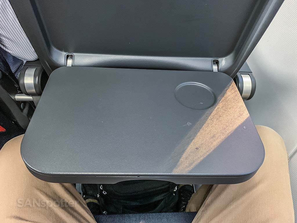 easyJet tray table