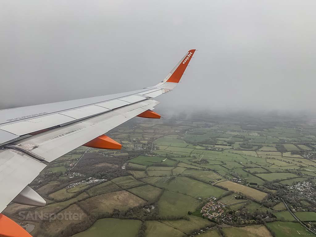 Landing in London Gatwick