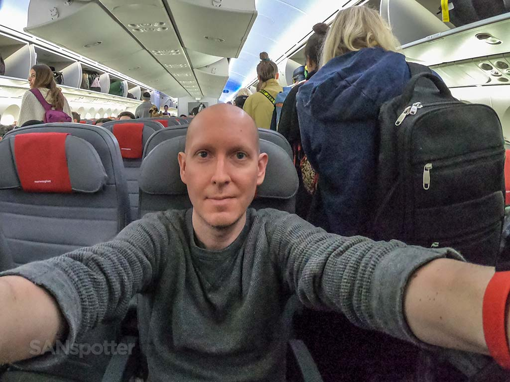 SANspotter Norwegian Air selfie