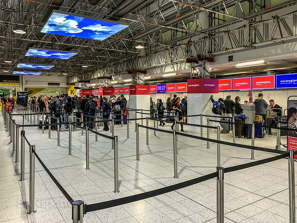 Norwegian Air check in Gatwick Airport