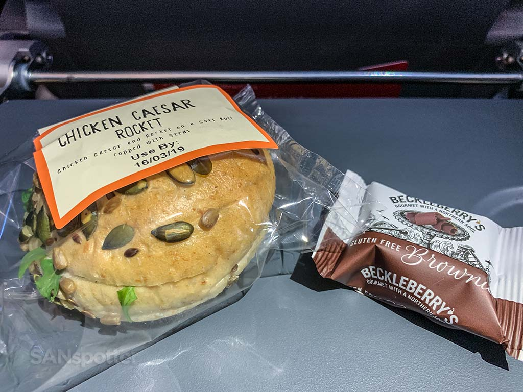 Norwegian Air second meal service