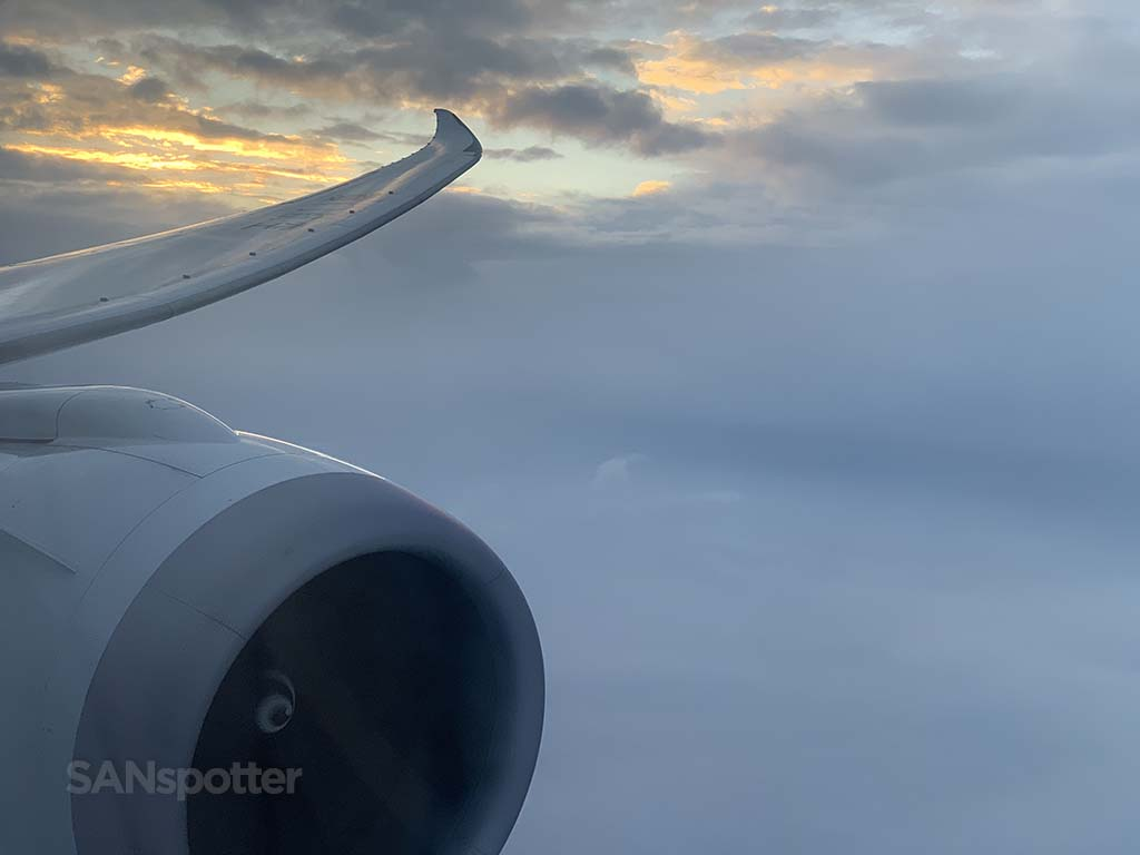 787 engine and wing