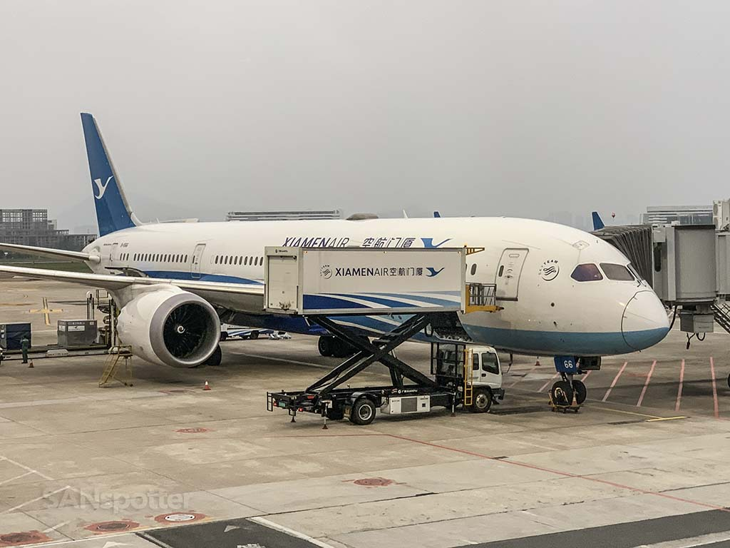 Xiamen Air 787-9 XMN Airport