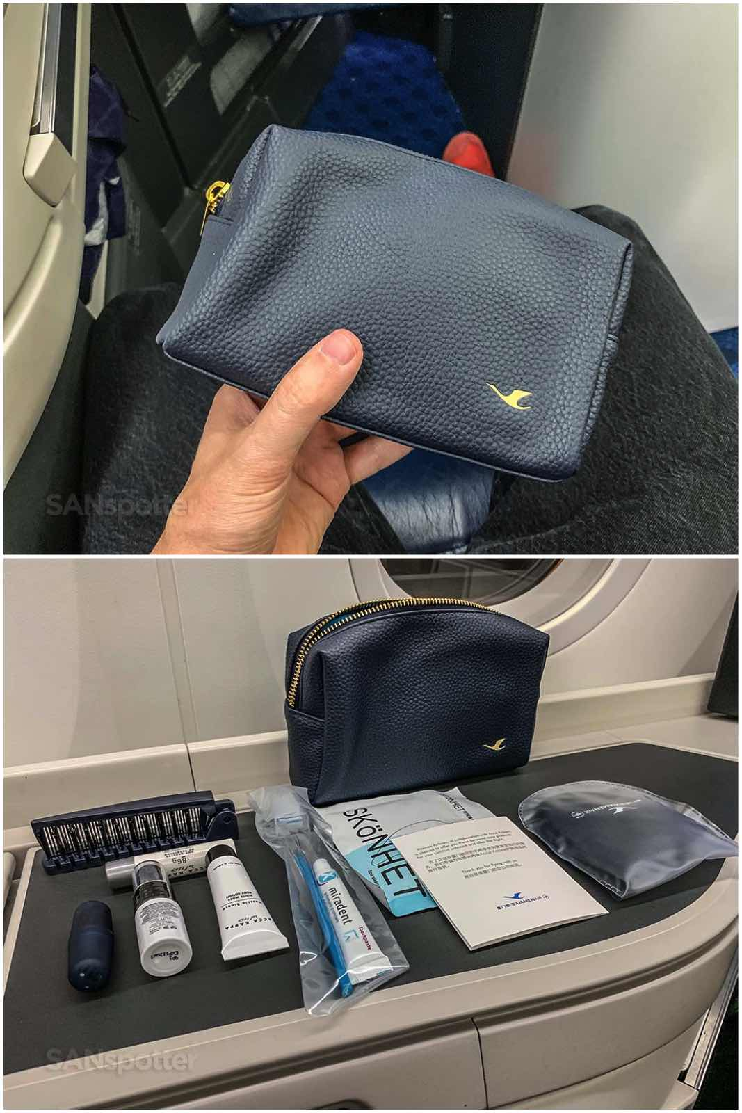 Xiamen Airlines business class amenity kit
