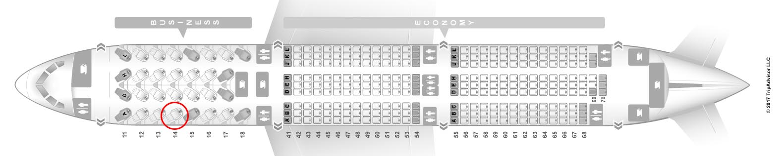 Xiamen Airlines 787-9 seat map