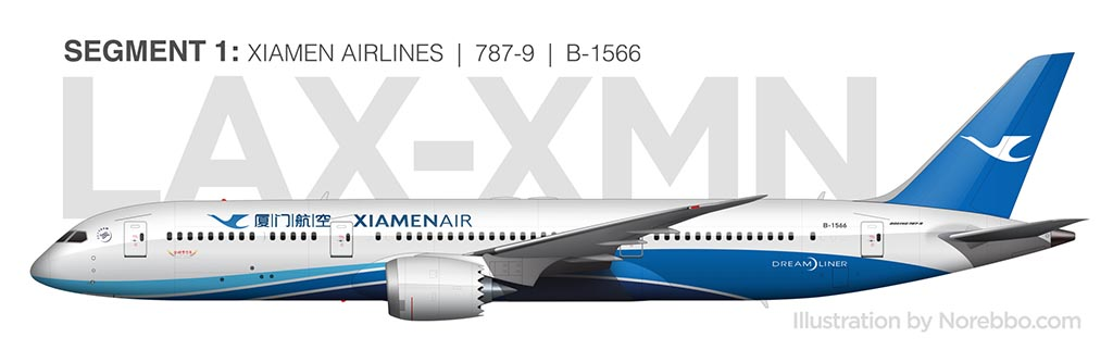 Xiamen Airlines 787-9 side view