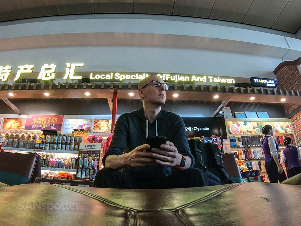 SANspotter selfie Xiamen airport China