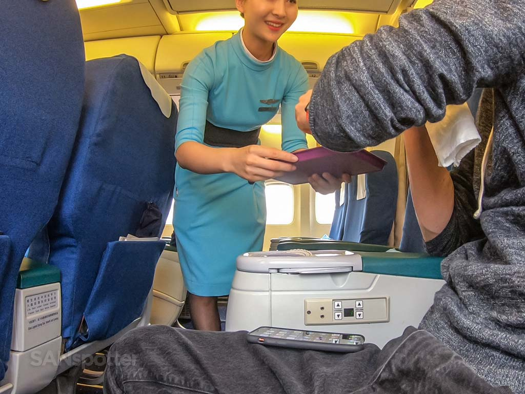 Xiamen Airlines female flight attendant