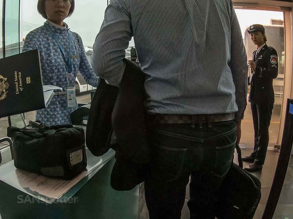 Xiamen Airlines gate agents