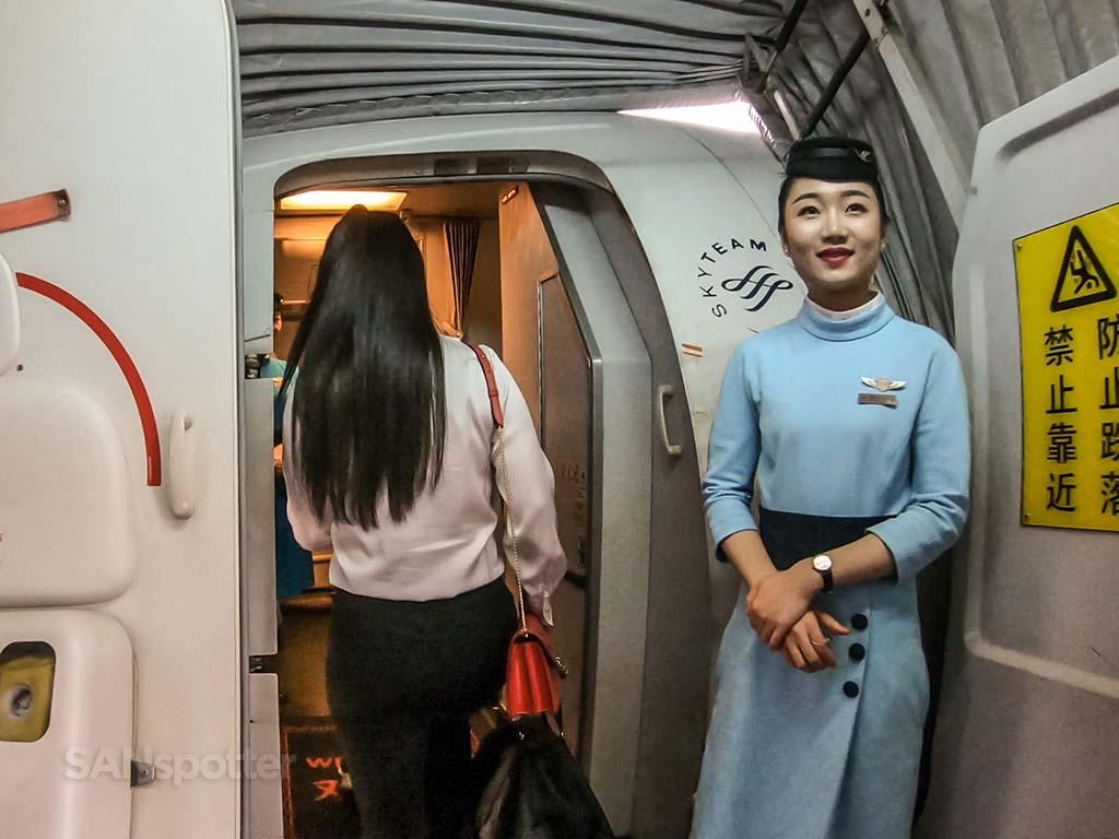 Xiamen Airlines flight attendants