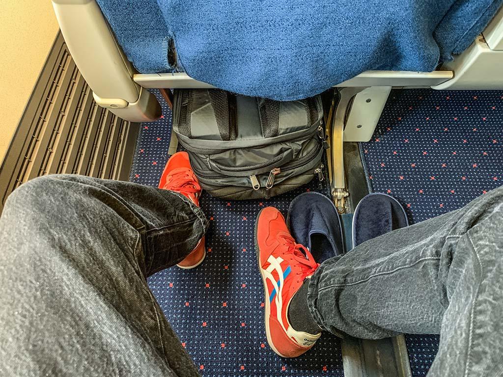 Xiamen Air business class seat pitch