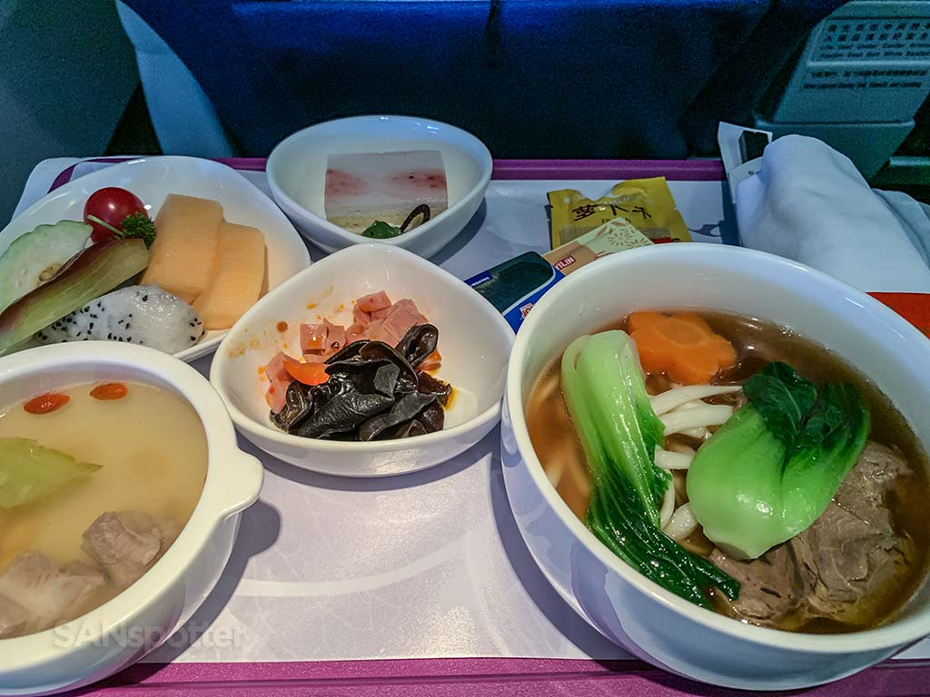 Xiaofujian airlines business class lunch