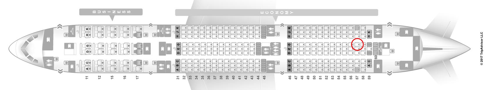 Hainan Airlines 787-9 seat map