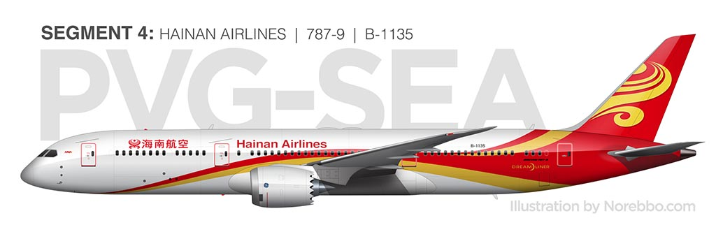 Hainan Airlines 787-9 side view