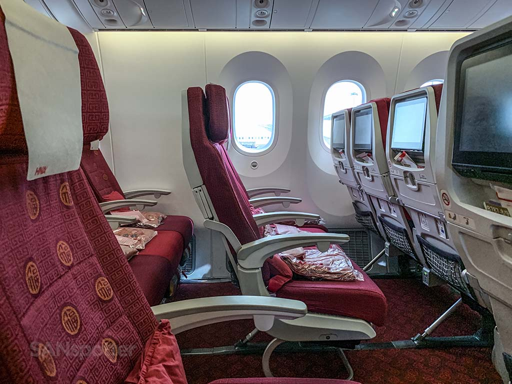 Hainan Airlines review economy class no window