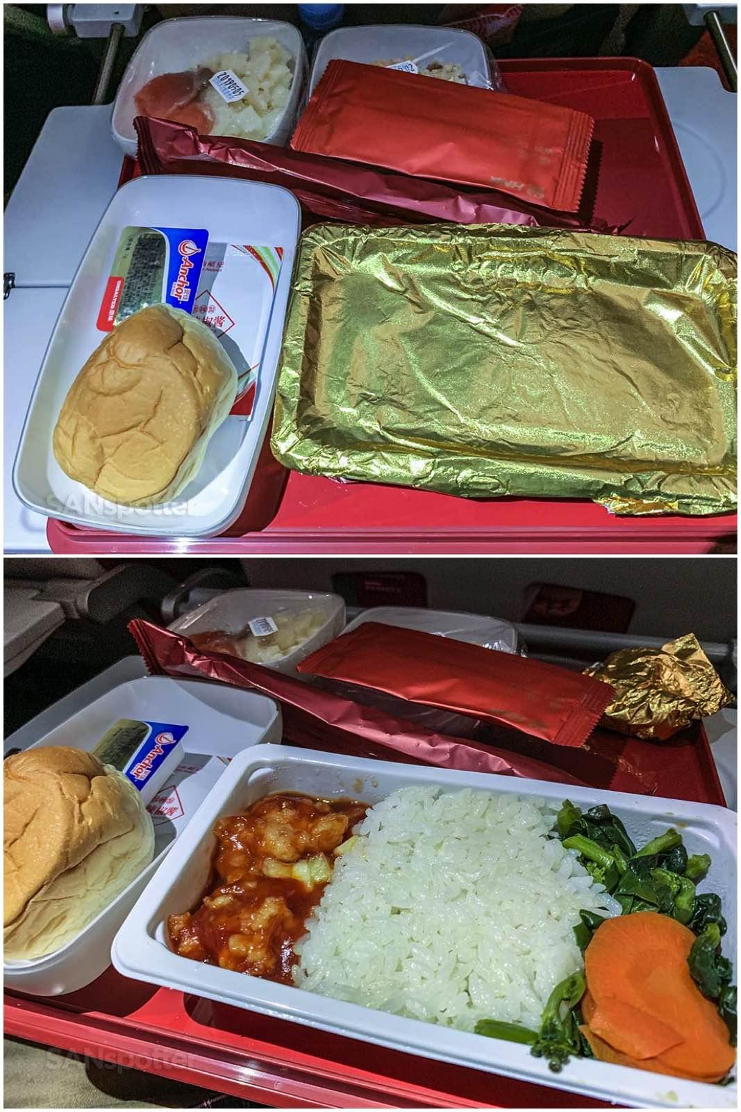 Hainan economy class meal