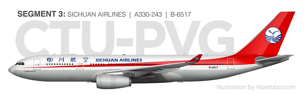 Sichuan Airlines A330-200 side view