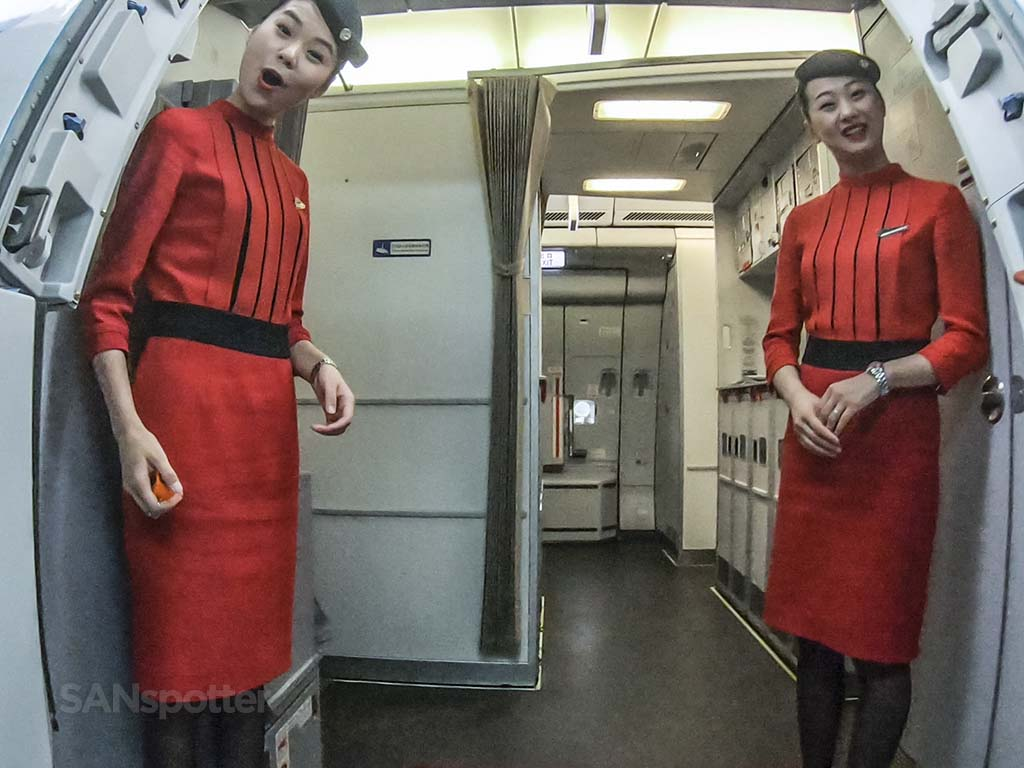 Sichuan Airlines flight attendants
