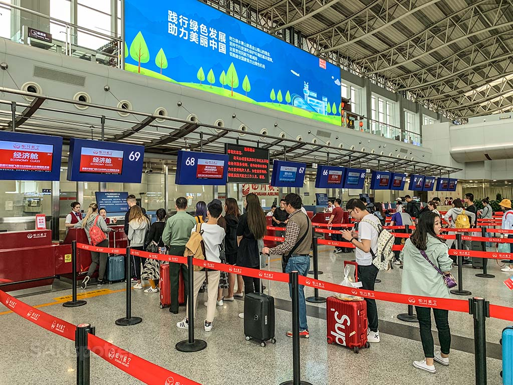 Sichuan Airlines check in Chengdu airport