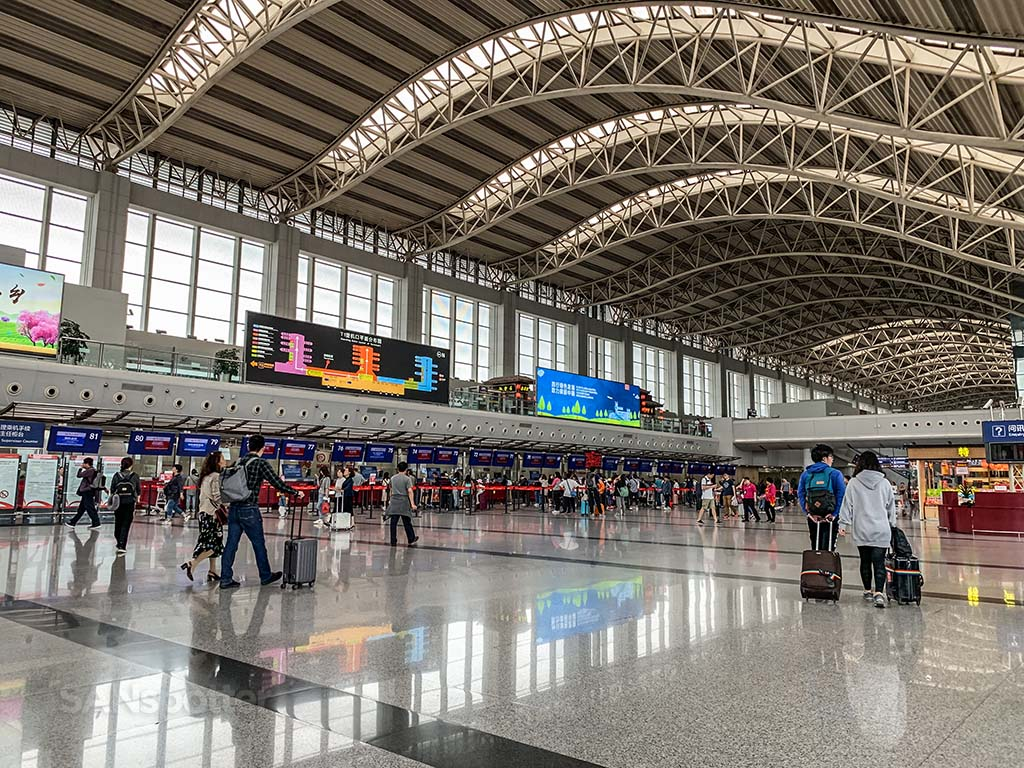 Chengdu airport domestic departures