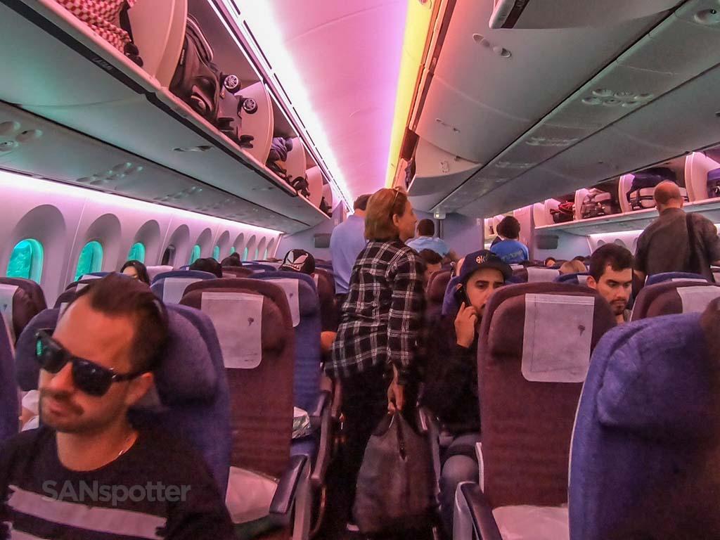 LATAM 787-8 economy cabin