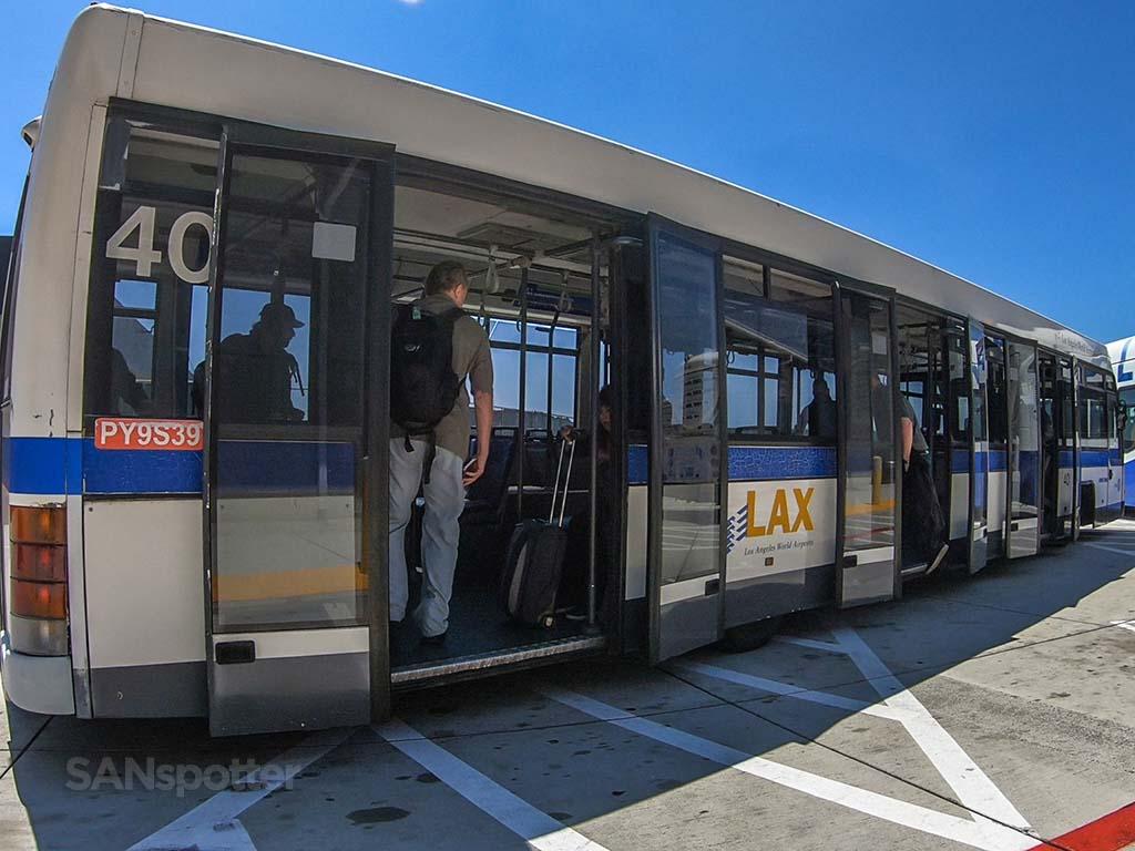 LAX remote gate bus