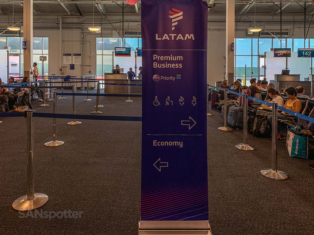 LATAM airlines gate LAX