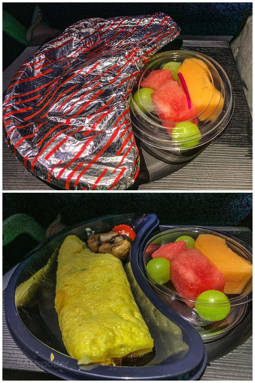 Latam Airlines breakfast
