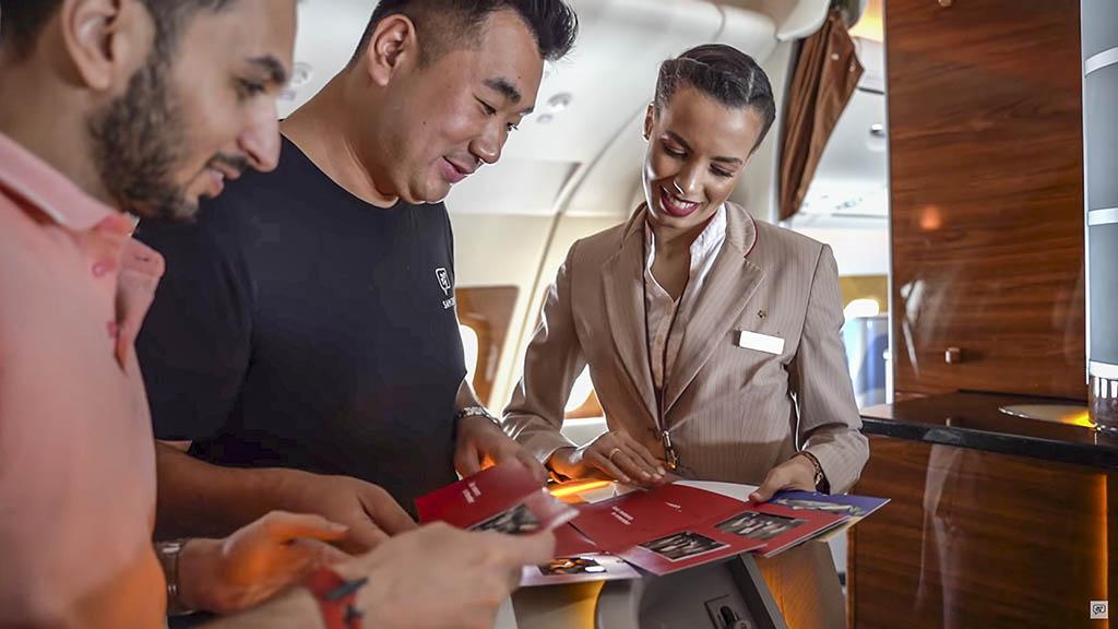 Sam chui Emirates cabin crew