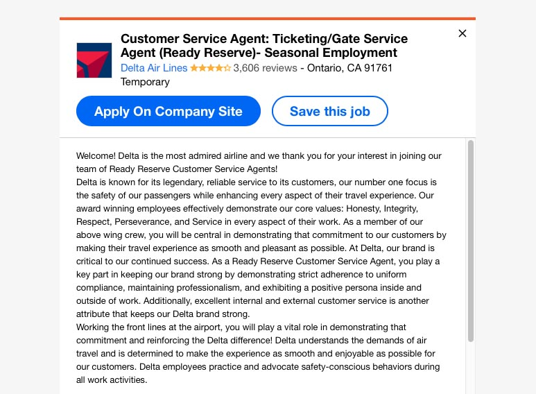 part time customer service agent job