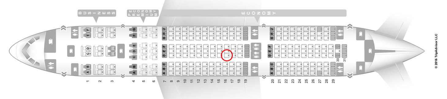 LOT Polish airlines 787-8 seat map