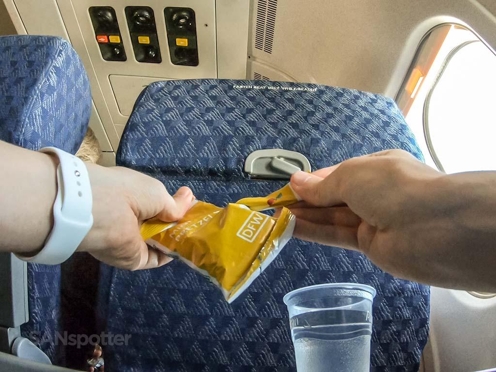 Economy class snack