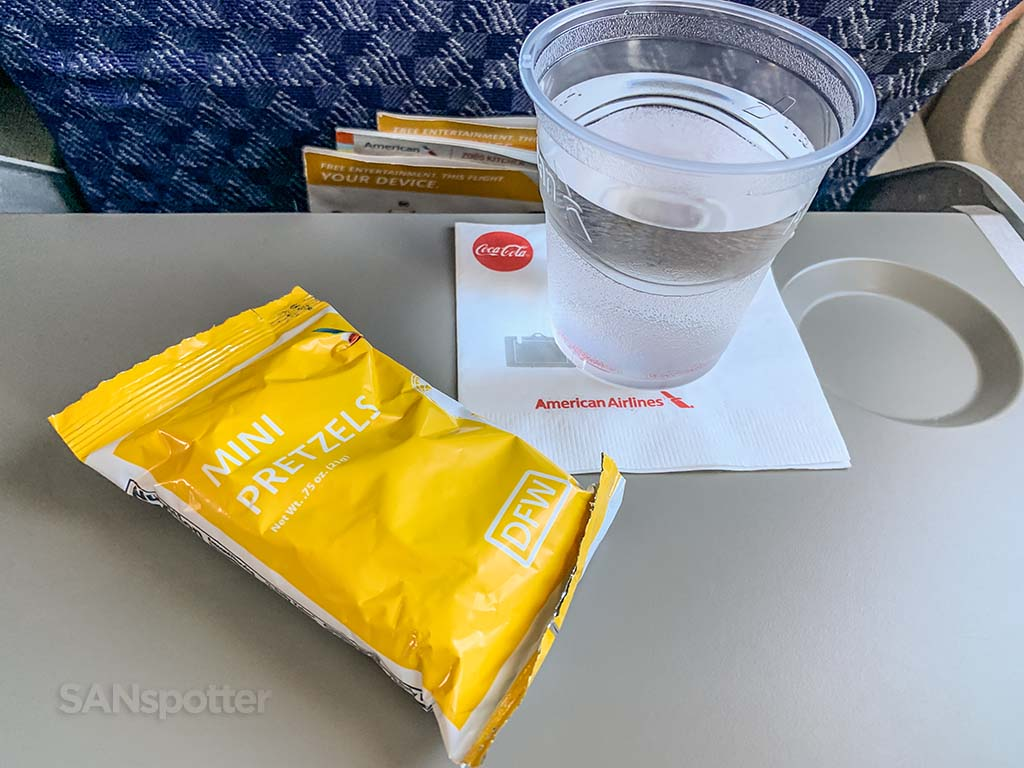 American Airlines snack