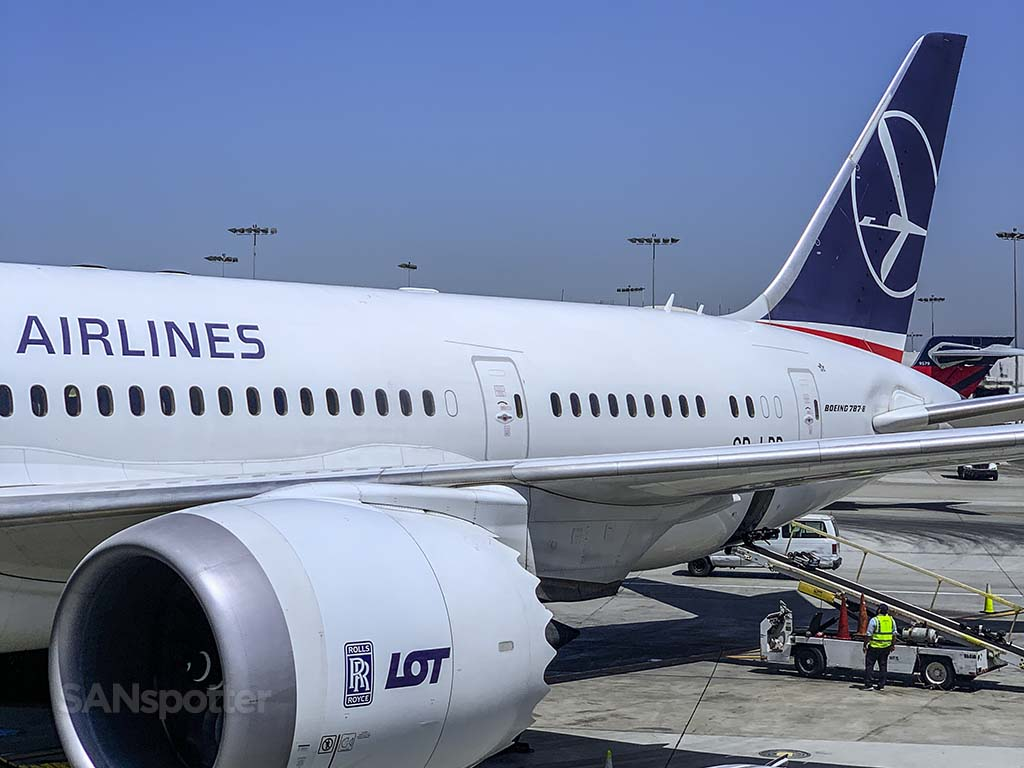 LOT Polish Airlines 787-8 LAX