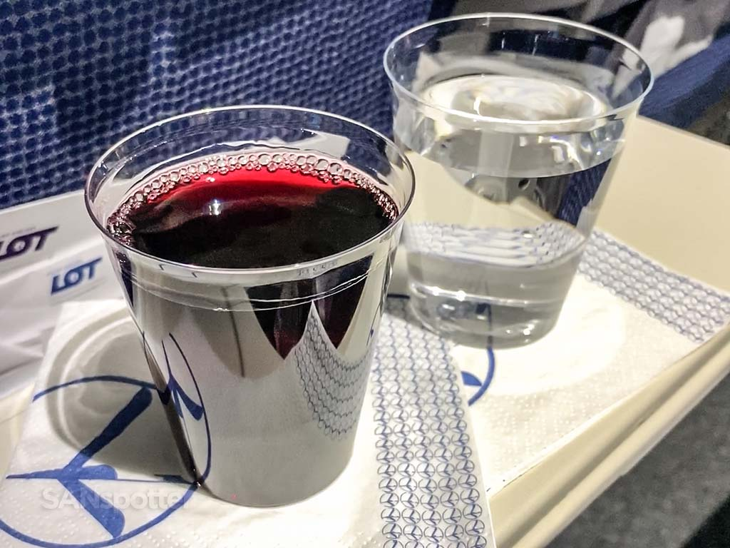 Lot polish airlines free alcohol