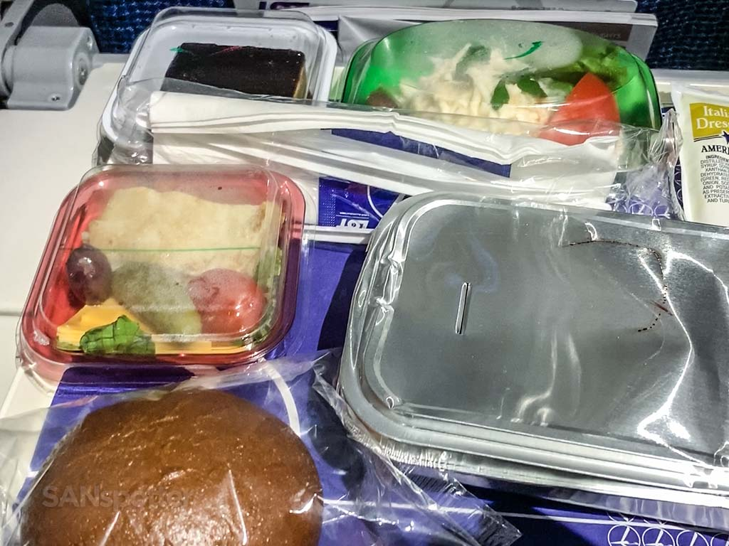 LOT Polish airlines meal