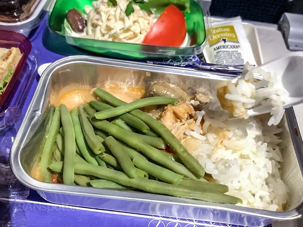 LOT Polish airlines free meal