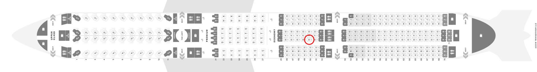 Virgin Atlantic a350-1000 seat map