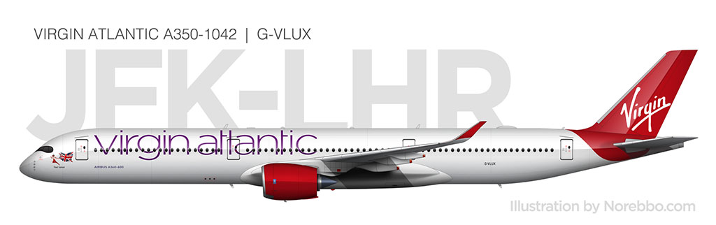 Virgin Atlantic A350-1000 side view
